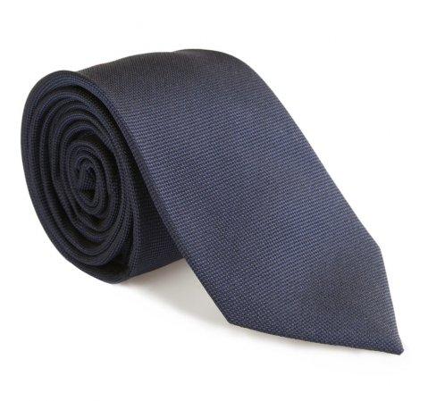 Krawat, granatowy, 85-7K-008-3, Zdjęcie 1