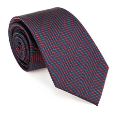 Tie, navy blue-burgundy, 85-7K-009-X1, Photo 1