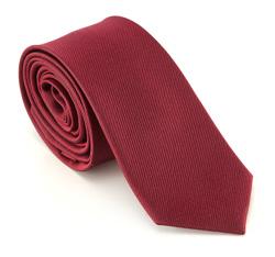 Krawat, bordowy, 85-7K-010-2, Zdjęcie 1