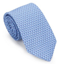 Tie, blue, 87-7K-001-N, Photo 1