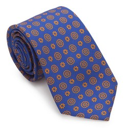 Tie, blue-orange, 87-7K-001-X4, Photo 1