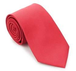 Krawat, czerwony, 87-7K-002-3, Zdjęcie 1