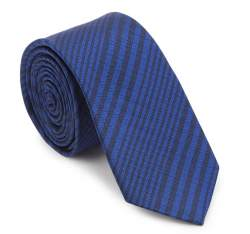 Tie, navy blue-black, 87-7K-002-7, Photo 1