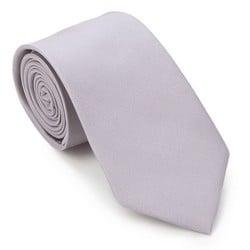 Krawat, jasny szary, 87-7K-002-8, Zdjęcie 1