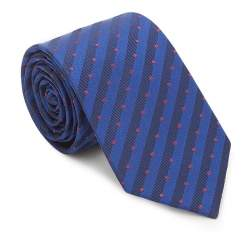 Tie, navy blue-burgundy, 87-7K-002-X2, Photo 1