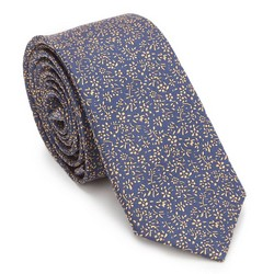 Tie, navy blue-yellow, 87-7K-002-X3, Photo 1
