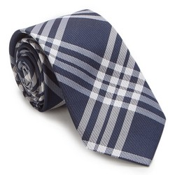 Tie, navy blue-white, 87-7K-002-X4, Photo 1