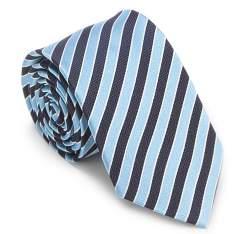 Krawat, błękitno - granatowy, 87-7K-002-X6, Zdjęcie 1