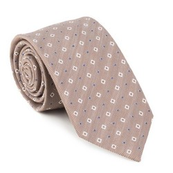 Krawat, beżowy, 88-7K-001-X3, Zdjęcie 1