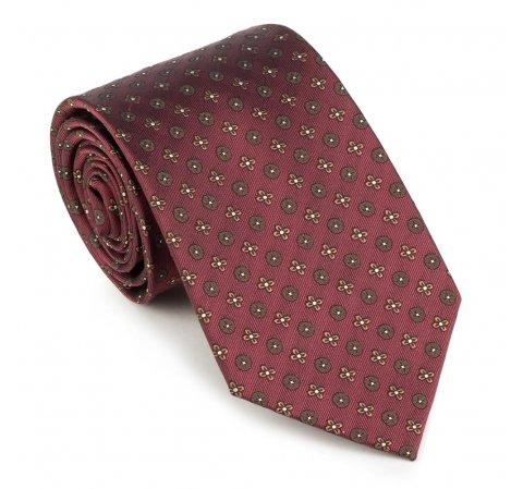 Krawat, bordowy, 89-7K-001-X10, Zdjęcie 1