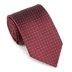 Krawat, bordowo - biały, 89-7K-001-X11, Zdjęcie 1