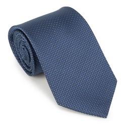 Krawat, granatowy, 89-7K-001-X2, Zdjęcie 1