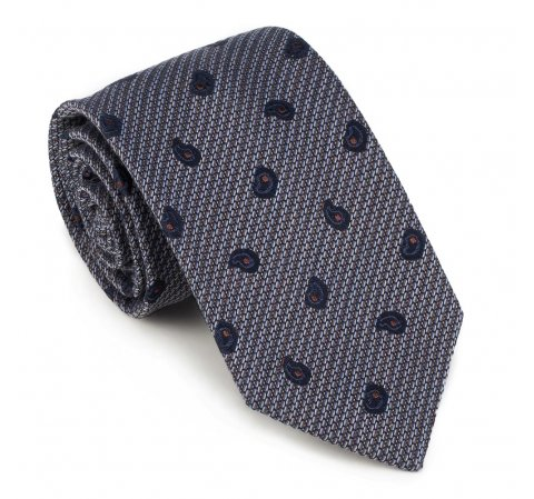 Krawat, multikolor, 89-7K-001-X3, Zdjęcie 1