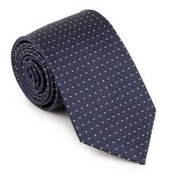 Krawat, granatowy, 89-7K-001-X4, Zdjęcie 1