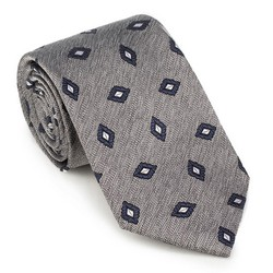 Tie, grey-navy blue, 89-7K-001-X5, Photo 1
