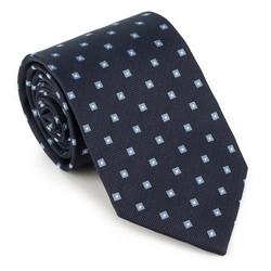 Krawat, granatowo - niebieski, 89-7K-001-X6, Zdjęcie 1