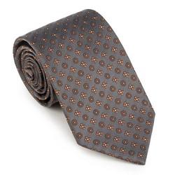 Krawat, szaro - brązowy, 89-7K-001-X8, Zdjęcie 1