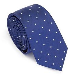 Krawat z jedwabiu wzorzysty, niebieski, 91-7K-001-X1, Zdjęcie 1