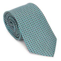 Krawat z jedwabiu wzorzysty, zielono - czarny, 91-7K-001-X2, Zdjęcie 1