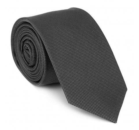 Krawat jedwabny bez wzoru, grafitowy, 92-7K-001-8, Zdjęcie 1