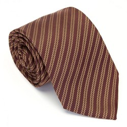 Krawat, bordowy, KR-7-006-100, Zdjęcie 1