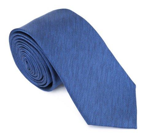 Krawat, niebieski, 83-7K-006-8, Zdjęcie 2