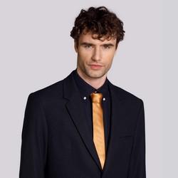 Krawat jedwabny bez wzoru, złoty, 92-7K-001-5, Zdjęcie 1