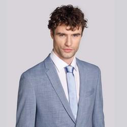 Krawat jedwabny bez wzoru, błękitny, 92-7K-001-N, Zdjęcie 1