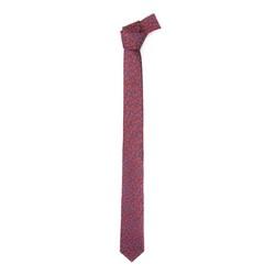 Krawat jedwabny wzorzysty, czerwono - niebieski, 92-7K-001-X5, Zdjęcie 1
