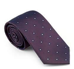 Krawat, fioletowy, 81-7K-013-34, Zdjęcie 1