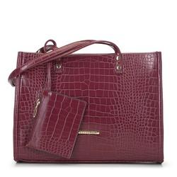 Tote bag, burgundy, 93-4Y-220-2, Photo 1