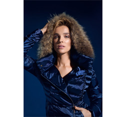 Women's jacket, navy blue, 85-9D-303-7-S, Photo 1
