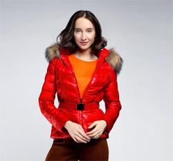 Kurtka damska, czerwony, 85-9D-306-3-XL, Zdjęcie 1