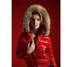 Kurtka damska, czerwony, 85-9D-307-3-2X, Zdjęcie 1