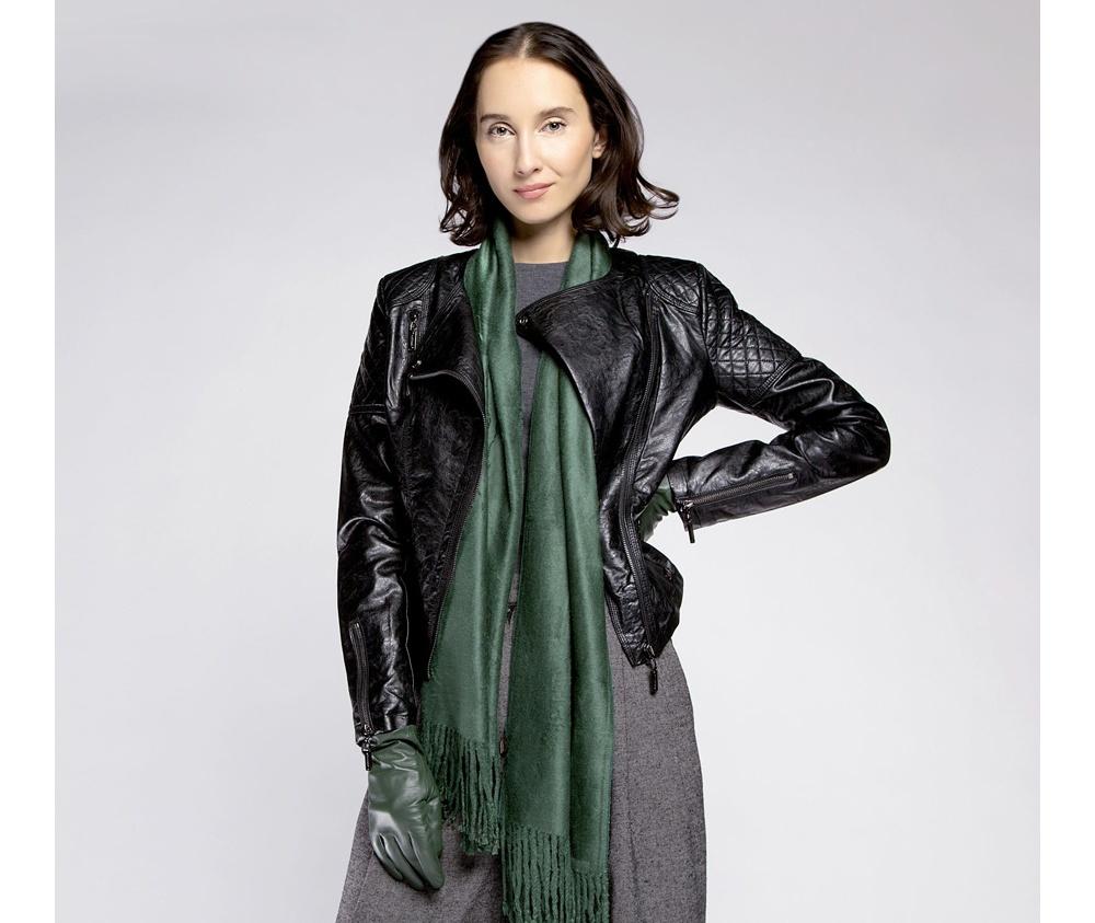 Куртка женская Wittchen 85-9P-300-1, черныйКуртка женская<br><br>секс: женщина<br>Цвет: черный<br>Размер INT: XXL<br>материал:: Екокожа<br>подкладка:: полиэстр<br>примерная общая длина (см):: 50