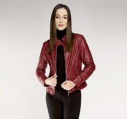 Women's jacket, burgundy, 85-9P-301-2-2X, Photo 1