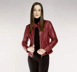 Women's jacket, burgundy, 85-9P-301-2-L, Photo 1
