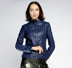Women's jacket, navy blue, 85-9P-301-7-L, Photo 1