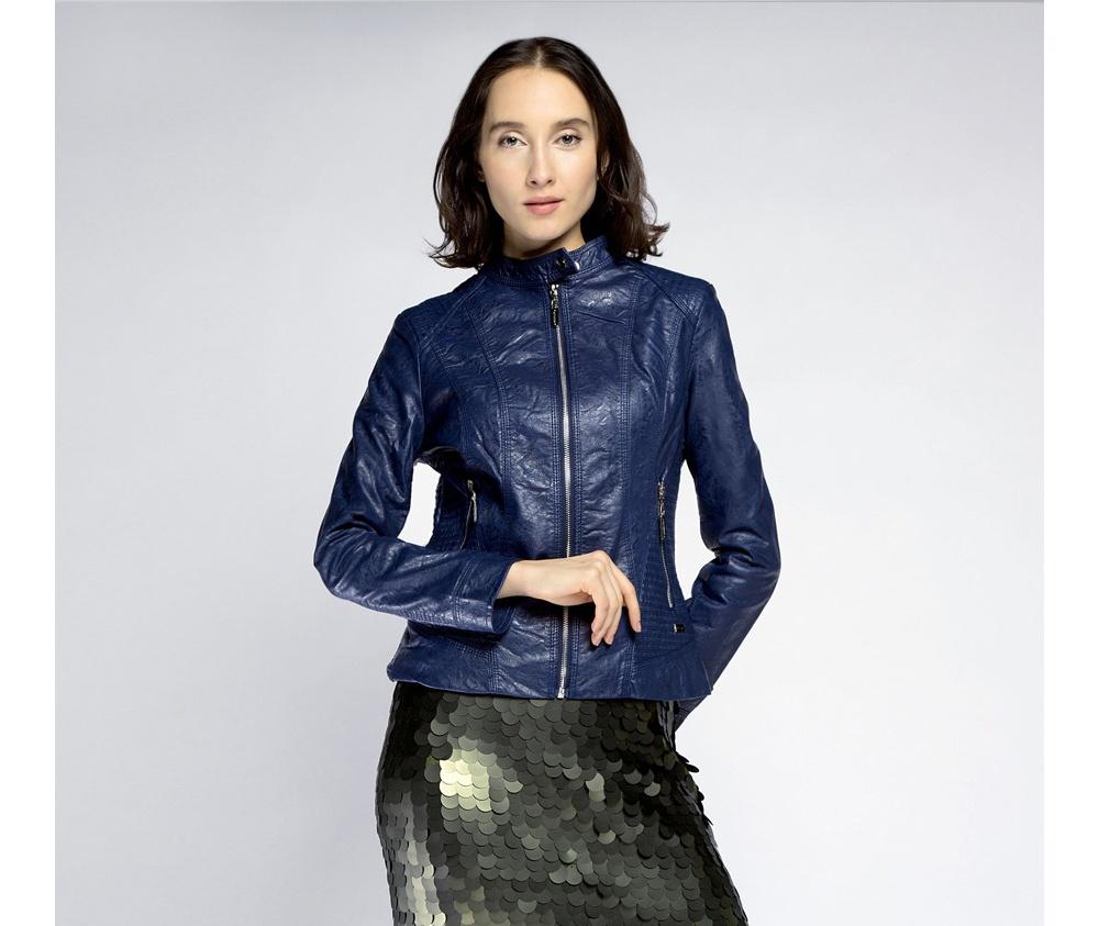 Куртка женскаяКуртка женская<br><br>секс: женщина<br>Цвет: синий<br>Размер INT: XL<br>материал:: Екокожа<br>подкладка:: полиэстр<br>примерная общая длина (см):: 55