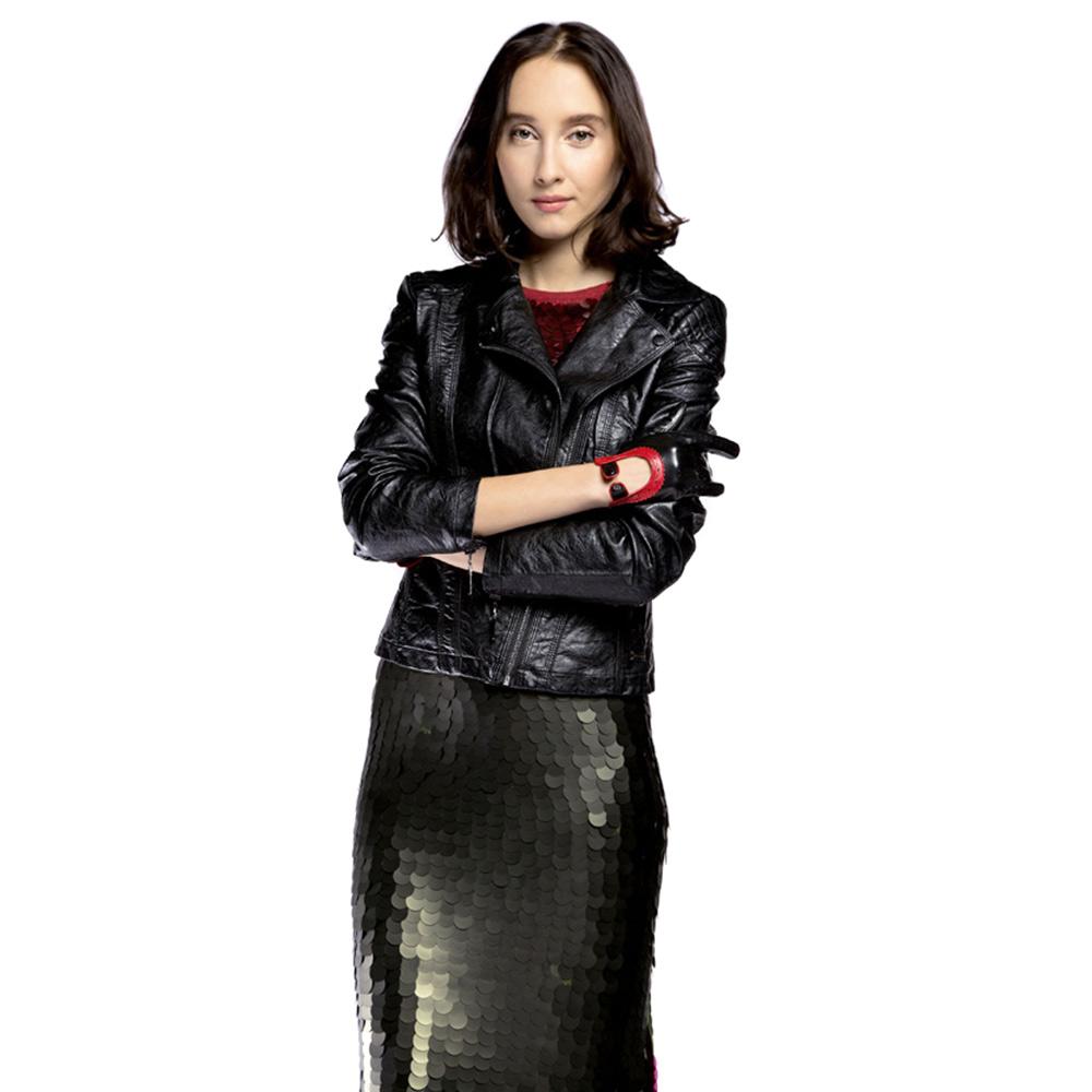 Куртка женская Wittchen 85-9P-302-1, черныйКуртка женская<br><br>секс: женщина<br>Цвет: черный<br>Размер INT: M<br>материал:: Екокожа<br>подкладка:: полиэстр<br>примерная общая длина (см):: 60
