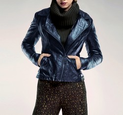 Women's jacket, navy blue, 85-9P-302-7-2X, Photo 1