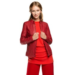 Kurtka damska, czerwony, 86-09-200-3-M, Zdjęcie 1