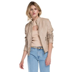 Women's jacket, beige, 86-9P-103-9-2X, Photo 1