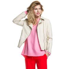 Women's jacket, ecru, 86-9P-104-9-M, Photo 1