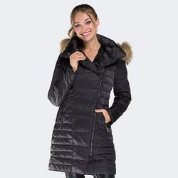 Women's coat, black, 87-9D-401-1-L, Photo 1