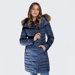 Women's coat, navy blue, 87-9D-401-7-M, Photo 1