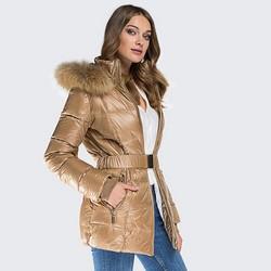 Women's coat, light beige, 87-9D-403-9-2XL, Photo 1