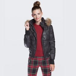 Women's coat, black, 87-9D-404-1-L, Photo 1