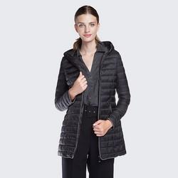 Women's coat, black, 87-9N-100-1-M, Photo 1