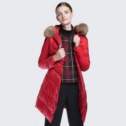 Kurtka damska, czerwony, 87-9N-500-3-S, Zdjęcie 1